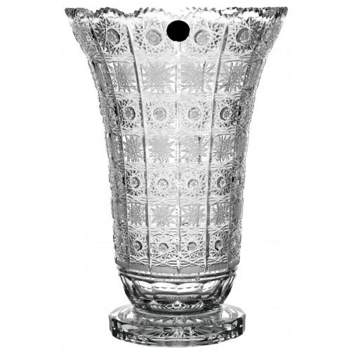 Wazon 500PK II, szkło kryształowe bezbarwne, wysokość 305 mm