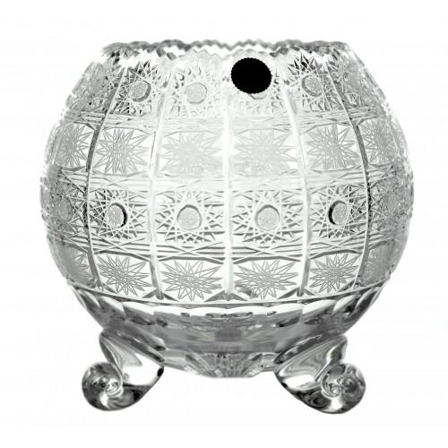 Wazon 500PK IV, szkło kryształowe bezbarwne, wysokość 205 mm