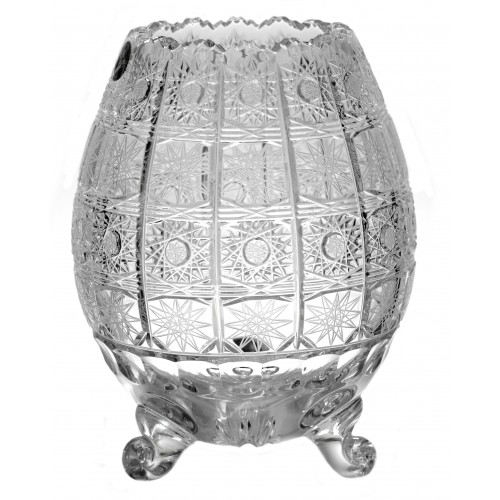 Wazon 500PK III, szkło kryształowe bezbarwne, wysokość 205 mm