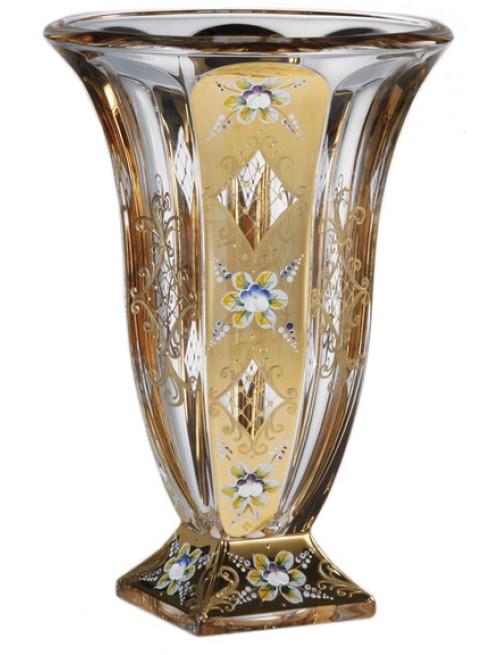Wazon Złoto, Szkło bezołowiowe - crystalite, wysokość 360 mm