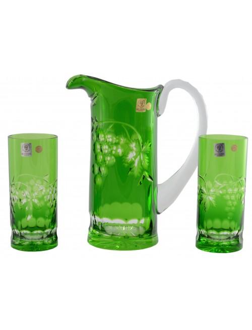 Zestaw Winorośl, kolor zielony, objętość 900 ml + 2x 350 ml