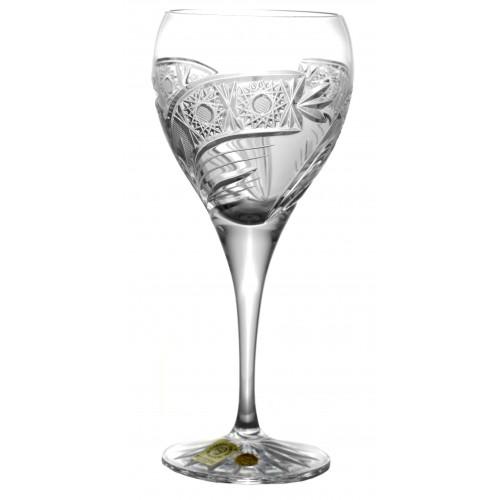 Kieliszek do wina Kometa, szkło kryształowe bezbarwne, objętość 270 ml