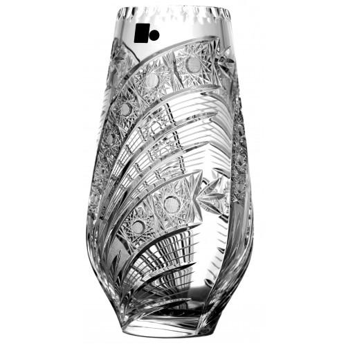 Wazon Kometa, szkło kryształowe bezbarwne, wysokość 305 mm