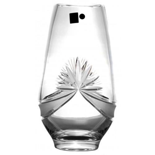 Wazon Girlanda, szkło kryształowe bezbarwne, wysokość 255 mm